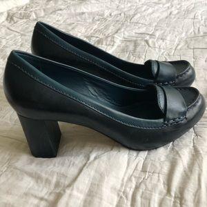 Cole Han Nike Air loafers block heels teal 10 GUC